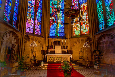 Altar at the Saint-Etienne de Metz Cathedral