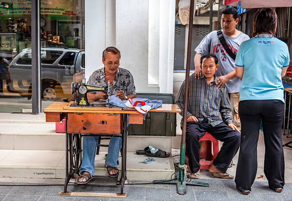 A Tailor at Silom Rd.