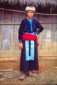 Young woman in traditional clothes.