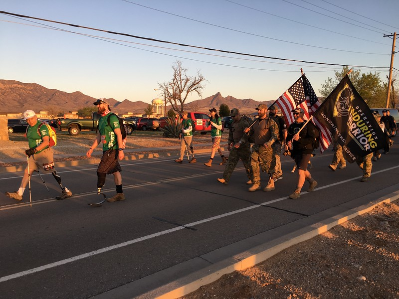 Many Wounded Warriors began at the head of the March.