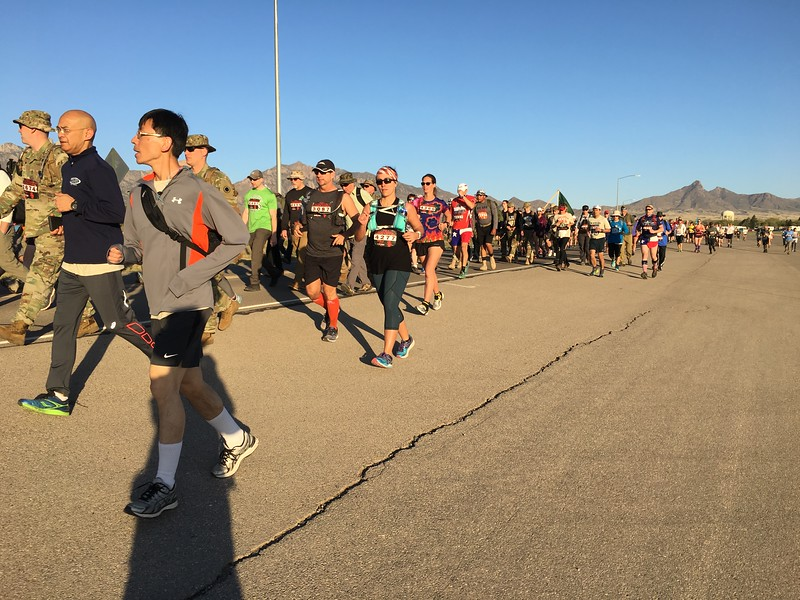 On paved roads for the first couple of miles; many joggers near the start but not at the end.