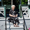 Betty Mae Tenney at the bandstand on the Townsend Common. SENTINEL & ENTERPRISE / Ashley Green