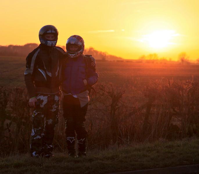 Melton Bikers at Sunset