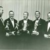 Group Photo of Bill Dudley and four others holding trophies (02516)