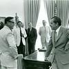 Bill Dudley speaking to Richard Nixon (02522)