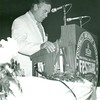 Bill Dudley receiving an award at the NFLA Pro Football Hall of Fame Weekend, Canton Ohio, 1976 (02668)