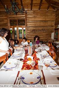 Christmas dinner at Rancho Naturalista - Cartago, Costa Rica
