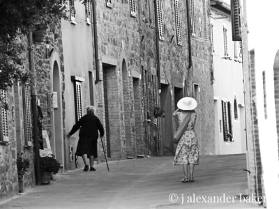 Two Women in Tuscany