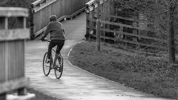 Biking from Northcroft to the Monkey Bridge - Kennet & Avon Canal Newbury