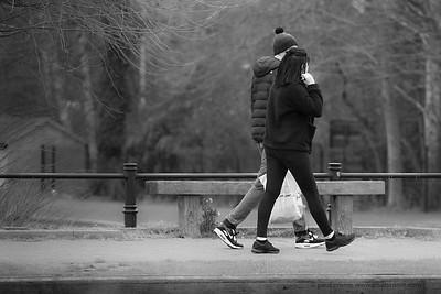 Couple Walking -  Kennet & Avon Canal Newbury