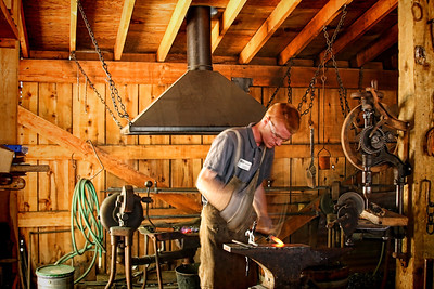 Foresthill Museum Blacksmith shop - Dan West