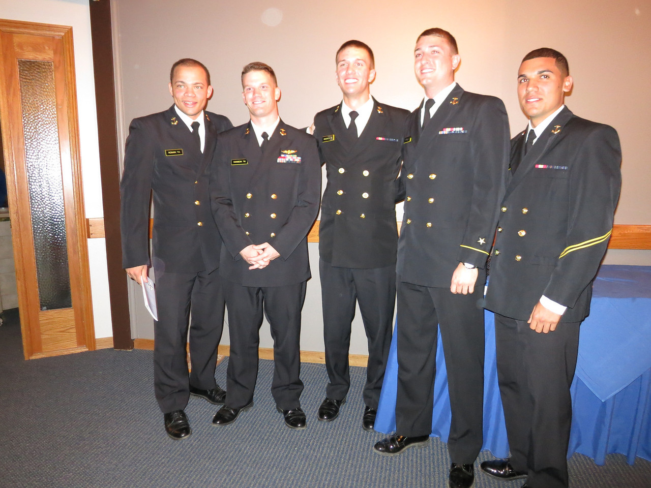 Andrew second from right, with his boyfriend, Nick, to his right. [Sorry, there was no group shot of the cadets.]