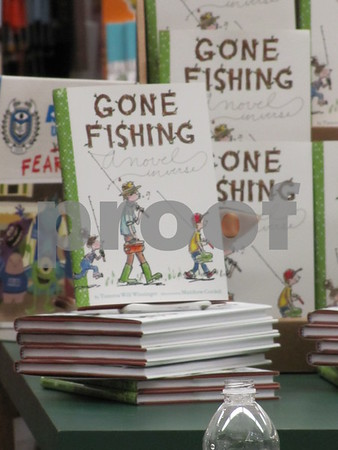 "The book ""Gone Fishing"" can be found at Book World in the Crossroads Mall in Fort Dodge."