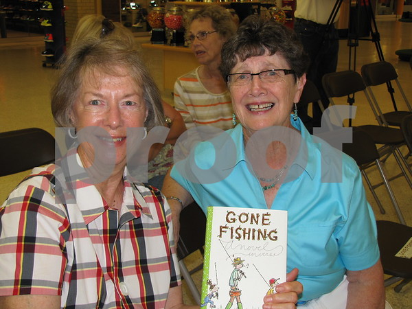 Jane Wallestad and Bev Doerzman attended the book talk/signing by author Tamera Will Wissinger at Book World in the Crossroads Mall.