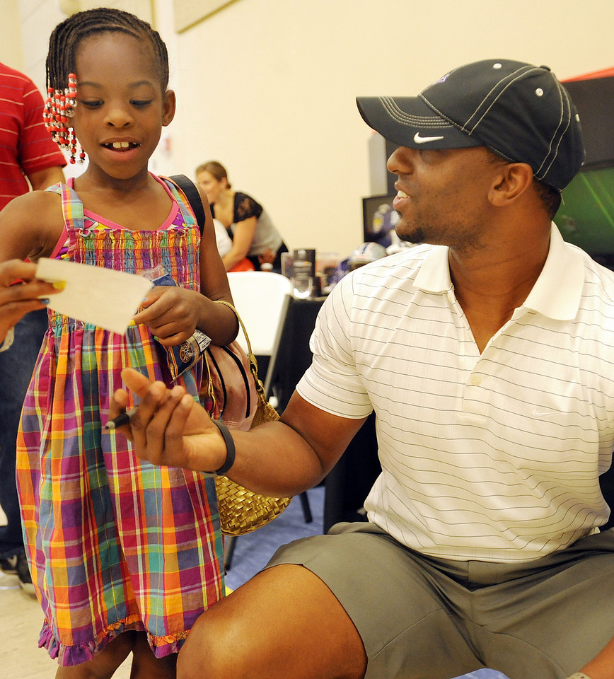 Football standout Brian Bratton signs autographs. More photos and information coming.<br /> The Kroc Center celebrated the 2012 National Boys & Girls Club Week with a Family Fun Night.<br /> GWINN DAVIS PHOTOS<br /> gwinndavis@gmail.com  <br /> (864) 915-0411