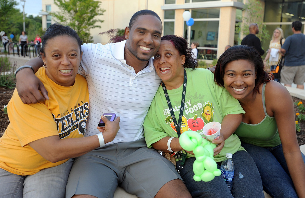 Football standout Brian Bratton greets the guests. More photos and information coming.<br /> The Kroc Center celebrated the 2012 National Boys & Girls Club Week with a Family Fun Night.<br /> GWINN DAVIS PHOTOS<br /> gwinndavis@gmail.com  <br /> (864) 915-0411