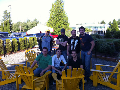 Mark, David, Glenn, Brian, Geoff, Jordan and Gary before our go kart endurance race event, July 2012.