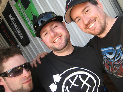 David, Tyler and Brian hangin' at the shop on a sunny Saturday, April 2012.