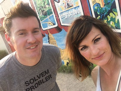 Exploring the street murals of Austin, TX, with Danielle, June 2017