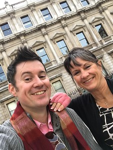 Shopping on London's Regent Street with Mom, October 2017
