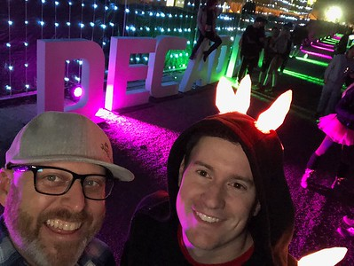 With Dave at Decadence festival, Phoenix AZ, December 2018
