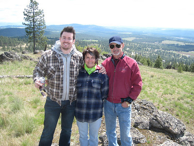 Brian, Linda & Howard near Deer Park, WA - April 2012
