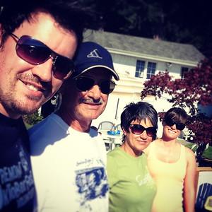 Brian, Howard, Linda and Danielle at Lake Stevens WA, July 2013.