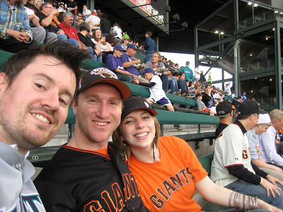 Brian, Frankie and LeAnna at Safeco Field for a Mariners-Giants game, June 2012.