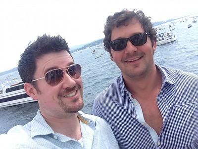 On Lake Washington for Seafair 2014 with Tom