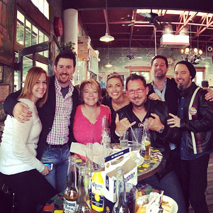 April, Brian, Christina, Tanya, Jason, Michael & Jean-Roux at Guero's Taco Bar in Austin TX during SXSW, March 2014.