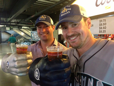 Michael and Brian at Safeco Field, Seattle, September 2013.