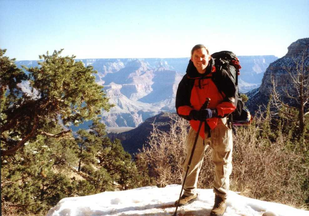 Grand Canyon - smiling, before the 5,000 ft down and 5,000 ft up