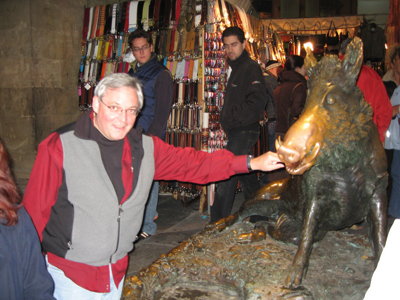 Bronze Boar, Florence. Many kiss this pig in Firenze
