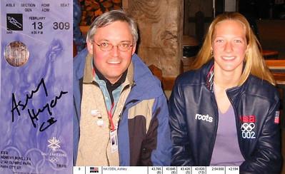 Ashley Hayden - Miss America for Luge - SLC Olympics 2002