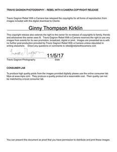 Kirklin Copyright release