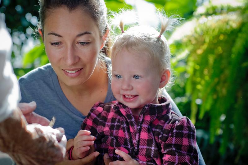 Family at Reiman Gardens