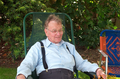 Grandpa out in the yard