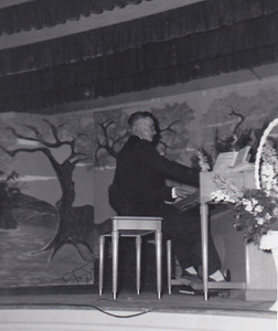Bud playing organ June 1955