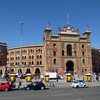 The Plaza de Toros bullfight arena in Madrid, Spain.