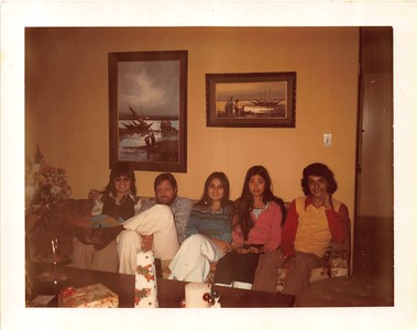 1970s xmas in MV with Kathie- Joel- Mich- Joyce and Matt1
