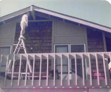 1970s Dad working on the MV house