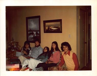 1970s xmas in MV with Kathie, Joel, Mich, Joyce and Matt2