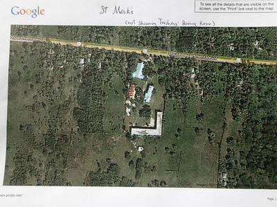 Google Earth shot of St Paul's Church (top) and School (lower right).
