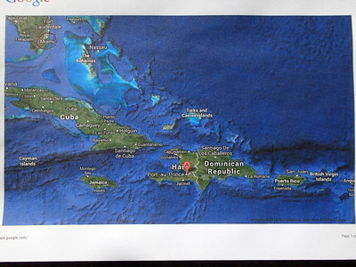 Flying from Ft Lauderdale to Port-au-Prince. ...Haiti is the western third of the island of Hispaniola.