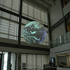 CIB building lobby, You can see one of the four projectors in this picture.
