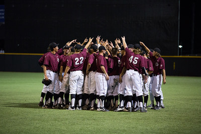 CMU players celebrates after the final out of game 3 during the Division II College World Series at Airhogs Stadium in Grand Prairie Texas.
