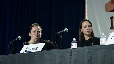 "Evan Williams & Cali Lewis SXSW  The panel was called, ""The Art of Speed."""