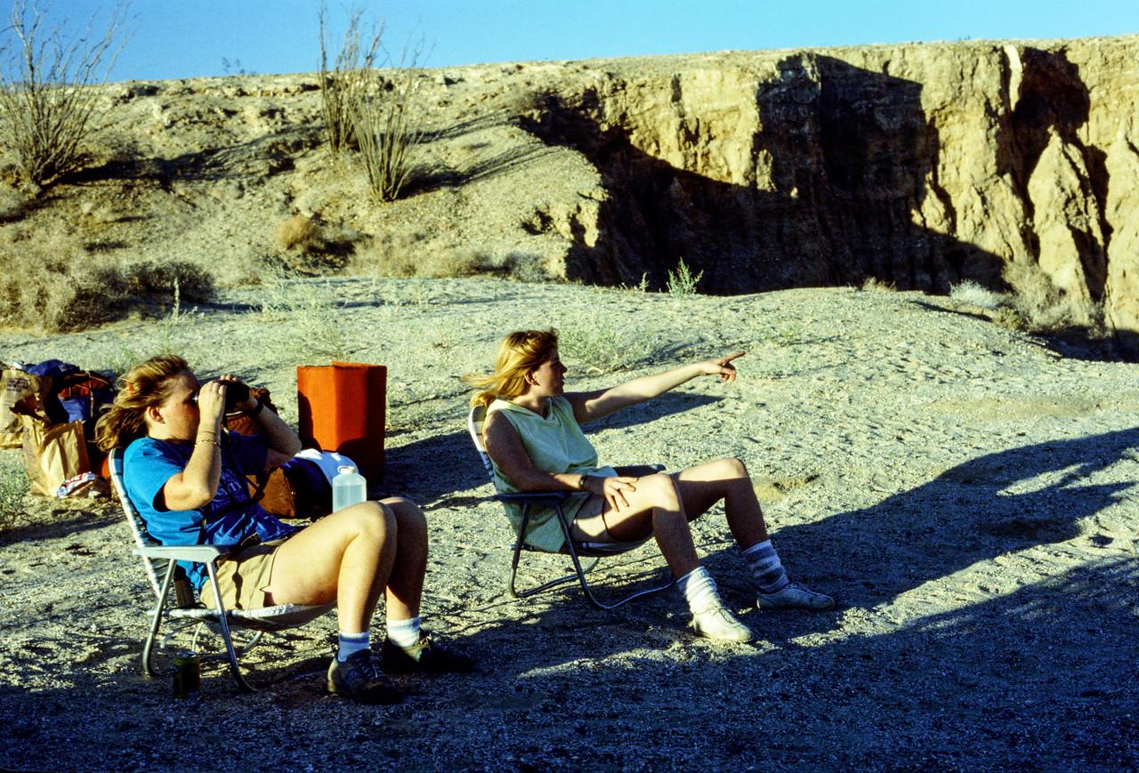 Donna McCarthy and Liz Wood - Anza-Borrego - May 1988