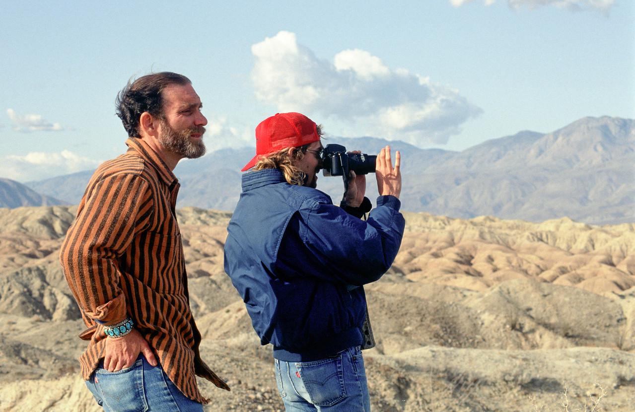 Michael Coffman with a photo apprentice in Anza-Borrego - 1992