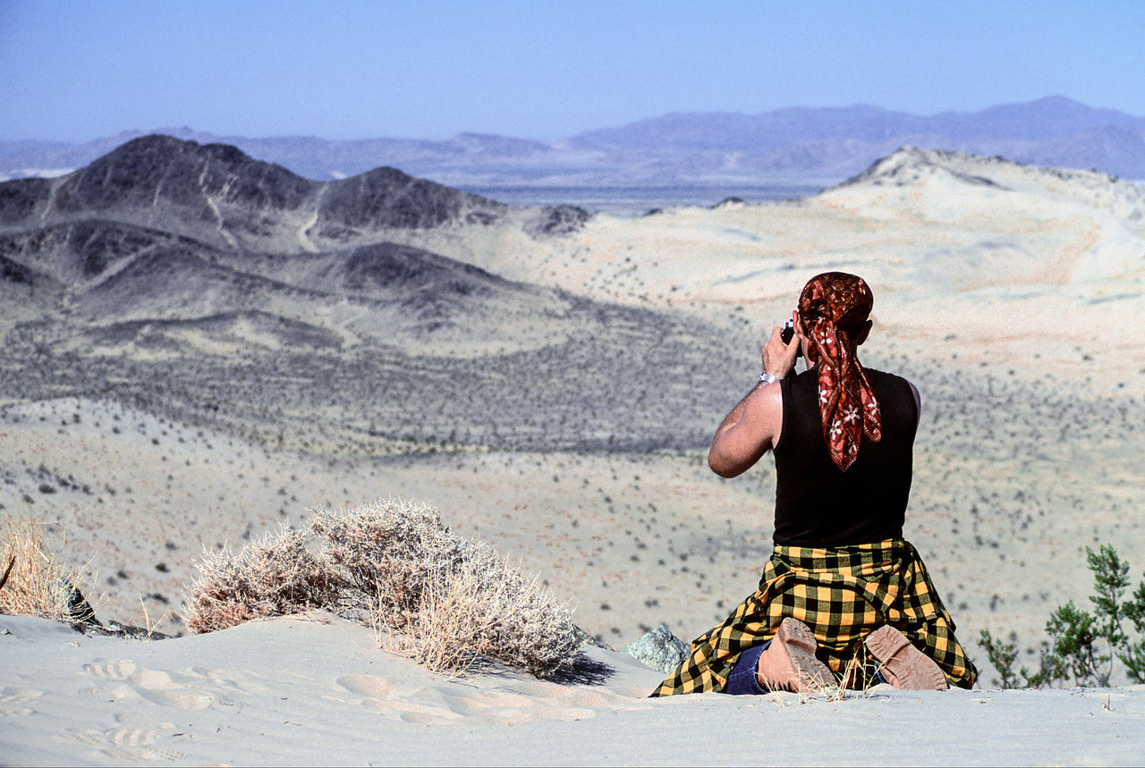 Michael Coffman shooting in The Devil's Playground - Mojave Desert - August 1988